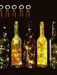 Недорогие -BRELONG® 5 шт. Пробка бутылки вина LED Night Light Тёплый белый / RGB / Белый Батарея с батарейкой Креатив / Свадьба / Украшение <5 V