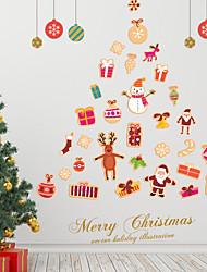 Недорогие -Декоративные наклейки на стены - 3D наклейки / Наклейки для животных Животные / Рождество Спальня / Детская