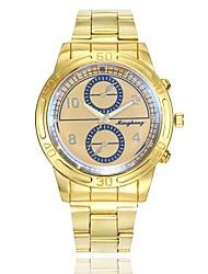 Недорогие -Муж. Нарядные часы Наручные часы Кварцевый Золотистый Повседневные часы Крупный циферблат Аналоговый На каждый день Мода - Золотой Белый Синий Один год Срок службы батареи