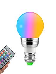 Недорогие -1pc rgb изменение цвета e27 e14 rgb светодиодная лампа светодиодная лампа свет пятна лампа ir пульт дистанционного управления домашняя гостиная украшения стороны