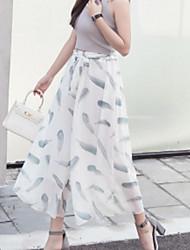 cheap -women's loose wide leg pants - geometric high waist