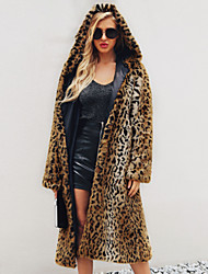 cheap -Long Sleeve Faux Fur Wedding / Party / Evening Women's Wrap With Leopard Print Coats / Jackets