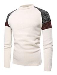 Недорогие -Муж. Классический Пуловер - Контрастных цветов