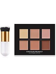 baratos -6 cores Mate Corretivo Corretivo # Fashion Cobertura Total Casual / Roupa Diária / Encontro Maquiagem Cosmético