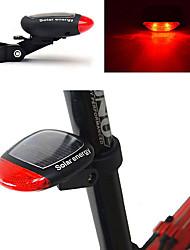 Недорогие -Светодиодная лампа Велосипедные фары задние фонари Велоспорт Водонепроницаемый Новый дизайн Солнечная энергия 100 lm Красный Велосипедный спорт / АБС-пластик