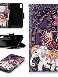 Недорогие -Кейс для Назначение Apple iPhone XR / iPhone XS Max Кошелек / Бумажник для карт / со стендом Чехол Слон Твердый Кожа PU для iPhone XS / iPhone XR / iPhone XS Max