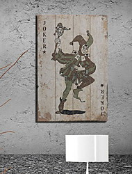 baratos -Inovador / Pessoas Decoração de Parede De madeira Europeu Arte de Parede, Tapeçarias Decoração