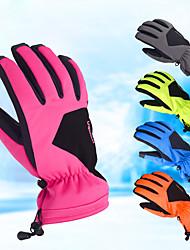 Недорогие -Зимние / Лыжные перчатки Муж. / Жен. Полный палец С защитой от ветра / Водонепроницаемость / Дожденепроницаемый Кожа PU / Тканый хлопок / Лайкра спандекс