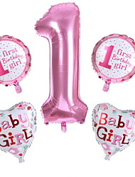 baratos -Balões Letra Criativo / De Mão Aniversário Decorações do partido 5pçs