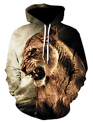 cheap -Men's Street chic / Punk & Gothic Hoodie - Color Block / Character, Print