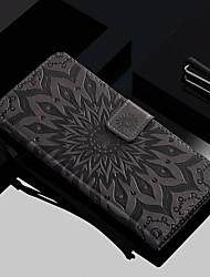 Недорогие -Кейс для Назначение Huawei Huawei Honor 10 / Honor 9 / Huawei Honor 9 Lite Кошелек / Бумажник для карт / со стендом Чехол Цветы Твердый Кожа PU
