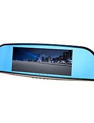 Недорогие -ziqiao xr701 полный hd 1080p 7 дюймов ips ночного видения автомобиль dvr зеркало камера видеомагнитофон двойной объектив регистратор вид сзади dvrs тире кулачок