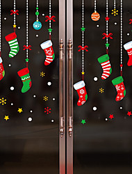 Недорогие -Оконная пленка и наклейки Украшение Рождество Персонажи ПВХ Стикер на окна / обожаемый / Веселая