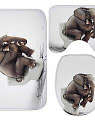 Недорогие -3 предмета Modern Коврики для ванны 100 г / м2 полиэфирный стреч-трикотаж Животное нерегулярный Новый дизайн