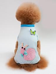 Недорогие -Собаки / Коты Пижамы Одежда для собак Геометрический принт / Животное / Мультипликация Синий / Розовый Хлопок Костюм Для домашних животных Мужской Милый стиль / На каждый день