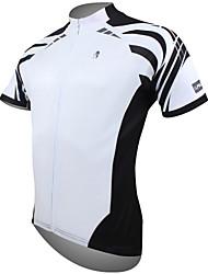 Недорогие -ILPALADINO Муж. С короткими рукавами Велокофты - Белый В полоску Велоспорт Джерси Верхняя часть, Дышащий Быстровысыхающий Ультрафиолетовая устойчивость 100% полиэстер / Впитывает пот и влагу