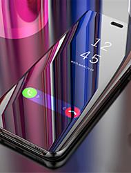 Недорогие -CaseMe Кейс для Назначение Apple iPhone X Зеркальная поверхность / Флип / Авто Режим сна / Пробуждение Чехол Однотонный Твердый ПК для iPhone X / iPhone 8 Pluss / iPhone 8