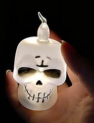 abordables -brelong halloween led citrouille crâne bougie nuit 1 pcs