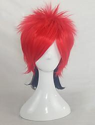 Недорогие -Парики из искусственных волос / Маскарадные парики Прямой Стрижка под мальчика Искусственные волосы 14 дюймовый Косплей / Регулируется / Жаропрочная Красный Парик Жен. Короткие Без шапочки-основы