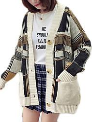 cheap -Women's Basic Cardigan - Color Block