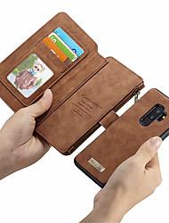 Недорогие -CaseMe Кейс для Назначение SSamsung Galaxy S9 Plus / S9 Кошелек / Бумажник для карт / Флип Чехол Однотонный Твердый Кожа PU для S9 / S9 Plus / S8 Plus