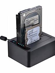 Недорогие -Unestech USB 3.0 в SATA 3.0 SATA 2.0 Док-станция для внешнего жесткого диска Экстраполятор / Автоматическое конфигурирование / Случаи с светодиодной подсветкой / Многофункциональный 12000 GB UT5520B