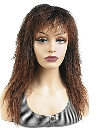 cheap -Synthetic Wig Curly Layered Haircut Synthetic Hair 20 inch Synthetic Black / Brown Wig Women's Long Capless Dark Brown