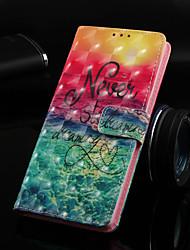 Недорогие -Кейс для Назначение Nokia Nokia 5.1 / Nokia 3.1 / Nokia 2.1 Кошелек / Бумажник для карт / со стендом Чехол Пейзаж Твердый Кожа PU