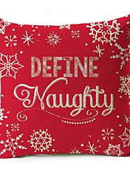 Недорогие -Наволочка Новогодняя тематика / Праздник Полиэстер Прямоугольный Для вечеринок Рождественские украшения