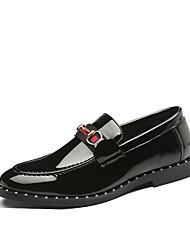 Недорогие -Муж. Официальная обувь Искусственная кожа Наступила зима На каждый день / Английский Мокасины и Свитер Водостойкий Полоски Черный / Для вечеринки / ужина / Для вечеринки / ужина / Офис и карьера