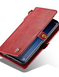 baratos -CaseMe Capinha Para Samsung Galaxy S9 Plus / S9 Carteira / Porta-Cartão Capa Proteção Completa Sólido Rígida PU Leather para S9 / S9 Plus / S8 Plus