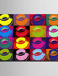 Недорогие -С картинкой Роликовые холсты / Отпечатки на холсте - Натюрморт / Поп-арт Modern