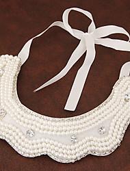 Недорогие -Жен. Воротничок / Жемчужные ожерелья - Жемчуг, Искусственный жемчуг Мода Белый Ожерелье Бижутерия Назначение Для вечеринок, Повседневные