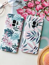 billiga -fodral Till Samsung Galaxy S9 Plus / S8 Plus Mönster Skal Växter Hårt PC för S9 / S9 Plus / S8 Plus