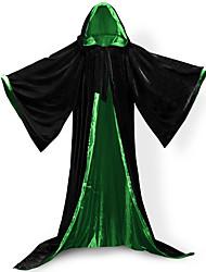 abordables -Elf Pasteur Manteau Costume de Cosplay Balais de sorcière Pour Halloween Bal Masqué Homme Unisexe Adultes Adulte Lolita Cosplay Epoque Médiévale Noël Halloween Carnaval Fête / Célébration Tenue Vert