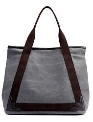 お買い得  -女性用 バッグ キャンバス ショルダーバッグ ジッパー ベージュ / コーヒー / ライトグレー