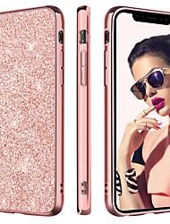 abordables -BENTOBEN Coque Pour Apple iPhone XR / iPhone XS Max Plaqué / Ultrafine / Brillant Coque Brillant Dur faux cuir / PC pour iPhone XR / iPhone XS Max