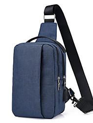 baratos -Homens Bolsas Náilon Sling sacos de ombro Ziper Azul Escuro / Roxo / Cinzento Claro