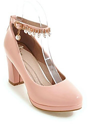 4240b5bbd82f Femme Chaussures à Talons Escarpins Talon Bottier Cuir Nappa / Cuir Verni  Printemps Noir / Beige / Rose / Quotidien