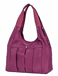 cheap -Women's Bags Nylon Shoulder Bag Zipper Red / Purple / Fuchsia