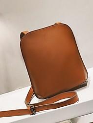 お買い得  -女性用 バッグ PU ショルダーバッグ ジッパー 純色 ブラック / Brown / カーキ色
