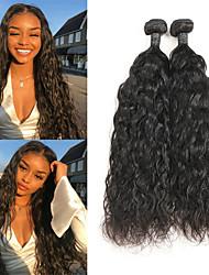 Недорогие -2 Связки Бразильские волосы Естественные волны 10A человеческие волосы Remy Накладки из натуральных волос 8-26 дюймовый Нейтральный Ткет человеческих волос
