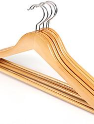 economico -di legno Multi-funzione Abbigliamento Appendiabiti, 5 pezzi