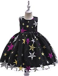 baratos -Infantil Para Meninas Galáxia Sem Manga Vestido
