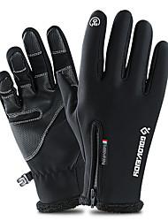 Недорогие -Лыжные перчатки / Перчатки для сенсорного экрана Муж. / Жен. Полный палец С защитой от ветра / Водонепроницаемость / Сохраняет тепло Кожа PU / Полиэфир / полиамид