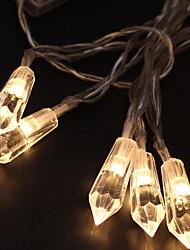 abordables -2,5 m Guirlandes Lumineuses 20 LED Blanc Chaud Design nouveau / Décorative / Cool Batteries alimentées 1 set