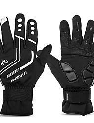 Недорогие -INBIKE Спортивные перчатки Зимние / Перчатки для велосипедистов / Перчатки для сенсорного экрана Отражение / Регулируется / Сохраняет тепло Полный палец силикагель / сверхтонкие волокна