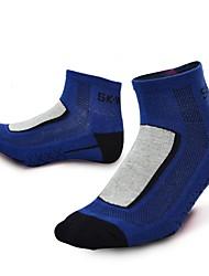 Недорогие -Компрессионные носки Спортивные носки / спортивные носки Носки для велоспорта Муж. Велоспорт Сохраняет тепло Воздухопроницаемость Стреч 3 пары Разные цвета Хлопок Другое Темно-серый Синий Серый
