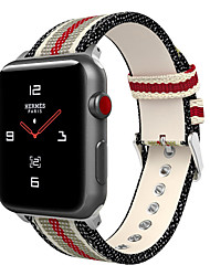 abordables -Bracelet de Montre  pour Apple Watch Series 4/3/2/1 Apple Bracelet en Cuir Nylon / Vrai Cuir Sangle de Poignet