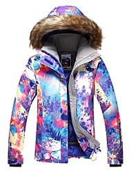 Недорогие -GSOU SNOW Жен. Лыжная куртка Лыжные очки Лыжи Зимние виды спорта Катание на лыжах Зимние виды спорта Полиэфир Верхняя часть Одежда для катания на лыжах / Зима